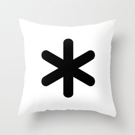 X Y Z Throw Pillow
