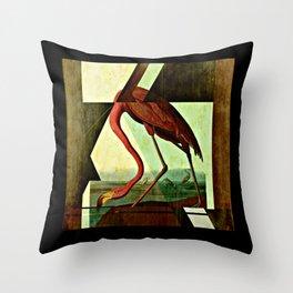 Flamingo Duet 1 Throw Pillow