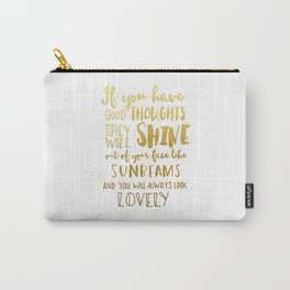Good thoughts - gold lettering Carry-All Pouch