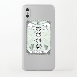 The Eye Roll Clear iPhone Case