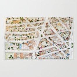 Greenwich Village Map by Harlem Sketches Rug