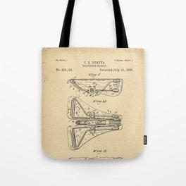 1890 Patent Bicycle saddle Tote Bag