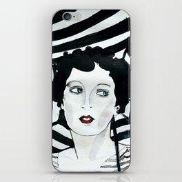Stripy Umbrella iPhone Skin