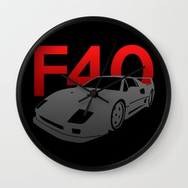 Ferrari F40 Wall Clock