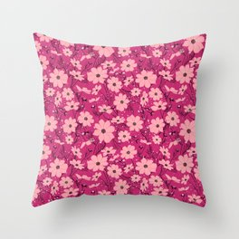 Cosmea pink Throw Pillow