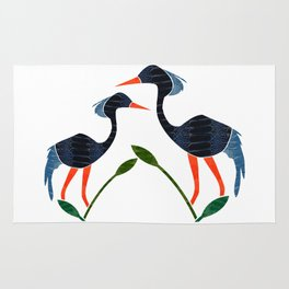 Blue Crane by Wilde Rug