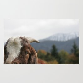 Look who's complaining, funny goat photo Rug