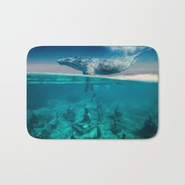 Between the sea and sky by GEN Z Bath Mat