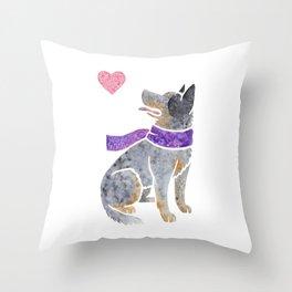 Watercolour Australian Cattle Dog Throw Pillow