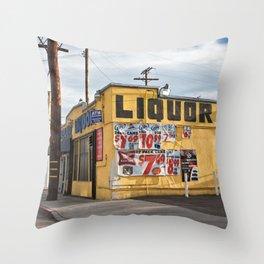 Liquor Store Culver City Throw Pillow