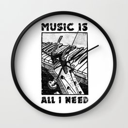 Music is all I need Wall Clock