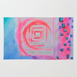 Blue Pink Rug
