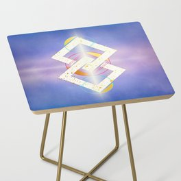 Linked Lilac Diamonds :: Floating Geometry Side Table