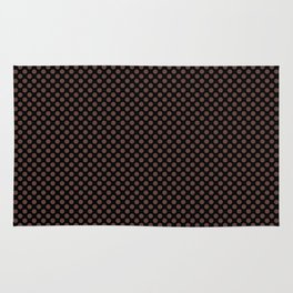 Black and Fudgesickle Polka Dots Rug