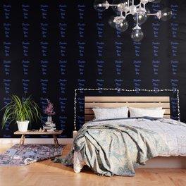 Fresher Than You Ho Periwinkle Blue & Black Wallpaper