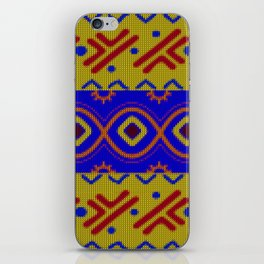 Ethnic African Knitted style design iPhone Skin