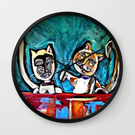 T and Reggie Wall Clock