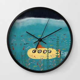 another little adventure Wall Clock