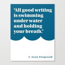 Fitzgerald on Writing Canvas Print