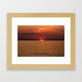 Chesapeake Bay Sunset Framed Art Print