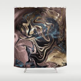 Deep Liquid Gold Shower Curtain