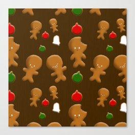 Gingerbread Men Pattern Canvas Print