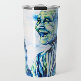 Happy End by carographic, portrait art Travel Mug