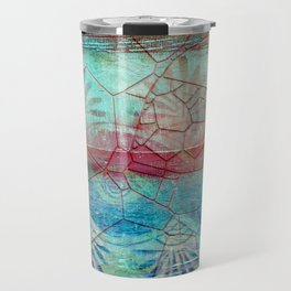 Pastel Seashell Mosaic Travel Mug
