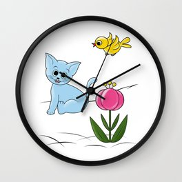 Smiling Cat Wall Clock