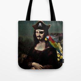 Mona Lisa Pirate Captain Tote Bag