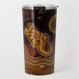 Desert Heat - Australian Aboriginal Art Theme Travel Mug