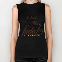 Artist T-Shirt Funny Fueled By Chocolate Lover Gift Apparel Biker Tank