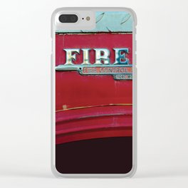 Fire Boss - Fort Worth - Fire Engine Red and Chrome Clear iPhone Case