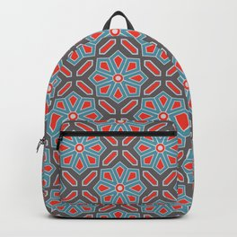 Volcanic Eruption Abstract Print Seamless Pattern Backpack