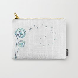 Dandelion Paua White Carry-All Pouch