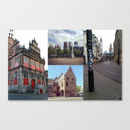 Photo collage of The Hague 1 Canvas Print