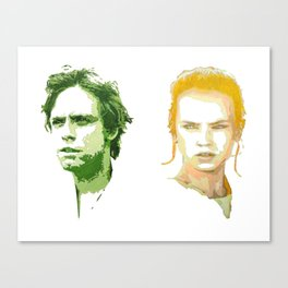 Luke Skywalker and Rey Canvas Print