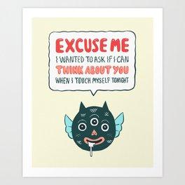 Polite Monster Art Print