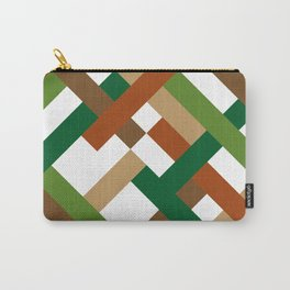 "Geometric Print ""Broken Weave"" Carry-All Pouch"