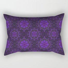 Violet Flower, rustic floral pattern, ultra-violet Rectangular Pillow