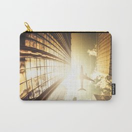 airplane in new york city Carry-All Pouch