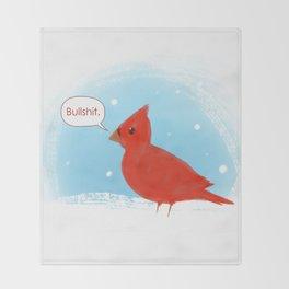 Winter Cardinal Throw Blanket