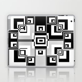 Interlock In Grey and Black Laptop & iPad Skin