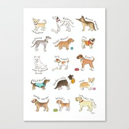 Breeds of Dog Canvas Print