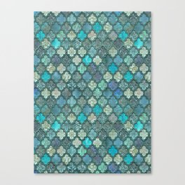 Moroccan Inspired Precious Tile Pattern Canvas Print