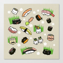 Sushi Friends Canvas Print