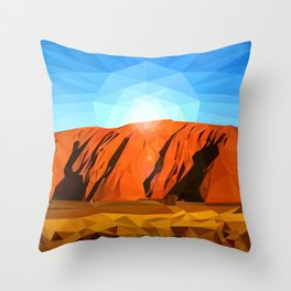 Uluru the Mighty Dreamer - Ayers Rock, Outback - Australia Throw Pillow