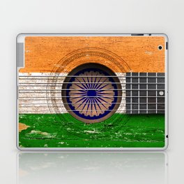 Old Vintage Acoustic Guitar with Indian Flag Laptop & iPad Skin