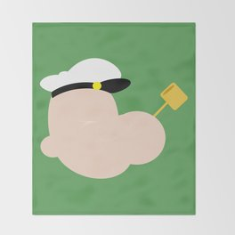 4menSmoking - Popeye Throw Blanket