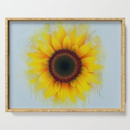 Sunflower Painting Serving Tray